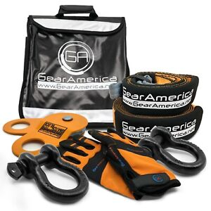 Gearamerica Recovery Kit Winch Accessories Line Dampener Snatch Block Shackles