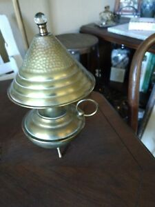 Antique Lamp Arts And Crafts Brass Table Original