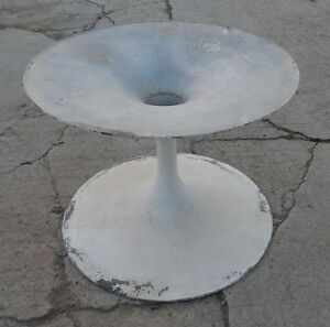 Vintage Mid Century Modern Tulip Dining Table Base Knoll Saarinen Era