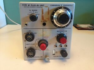 Tektronix Type w High gain Differential Comparator Plug in Unit