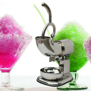 Commercial Ice Shaver Machine Snow Cone Maker Shaved Ice Electric Crusher Usa