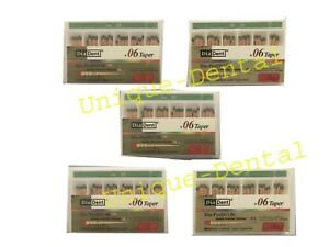 5 X Diadent Gutta Percha Gp Points 6 Size 40 Iso Color Coded Box Of 60