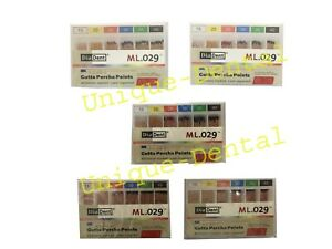 5 X Diadent Gutta Percha Gp Points Size 30 Iso Color Coded Box Of 60