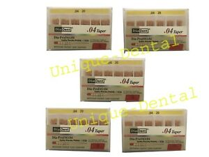 5 X Diadent Gutta Percha Gp Points 4 Size 20 Iso Color Coded Box Of 60