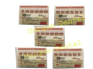 5 X Diadent Gutta Percha Gp Points 4 Size 25 Iso Color Coded Box Of 60