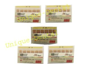 5 X Diadent Gutta Percha Gp Points 6 Size 20 Iso Color Coded Box Of 60
