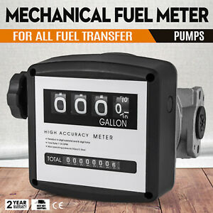 1 Mechanical Fuel Meter For All Fuel Transfer Pumps 30bar Black Flow Rates