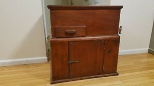 Primitive Commode Dry Sink Kitchen Cupboard