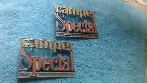 1973 1980 Chevy Truck Parts Camper Special Emblems Badges Trim Vintage Oem