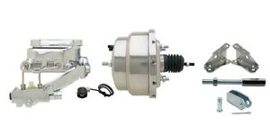 Chrome Gm Chevy 7 Disc Drum Power Brake Booster Kit Master Cylinder A F X Body