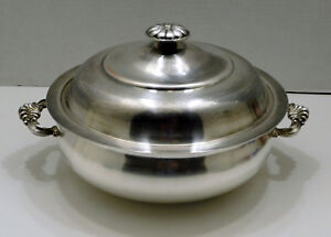 Fb Rogers Silver Large Covered Dish Handles Domed Lid Silverplate 1543 Vintage