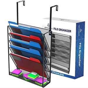 Hanging Organizer Cubicle File Holder Office Cubical Wall Mount Folder Storage