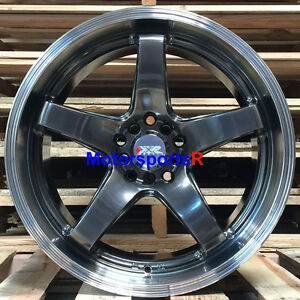 Xxr 555 Wheels 18 25 Chromium Black Staggered Rims 5x4 5 98 99 Ford Mustang Gt