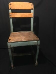 Antique Wood Metal School Classroom Chair American Seating Co Envoy W Patent