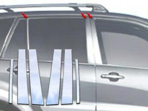 6 Pcs Stainless Pillar Post Trim For 2001 2005 Toyota Rav4 4 Dr Suv