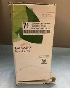 Ansell 8515 Gammex Neoprene Surgical Gloves Powder free 7 5 Lot Of 50 Pairs