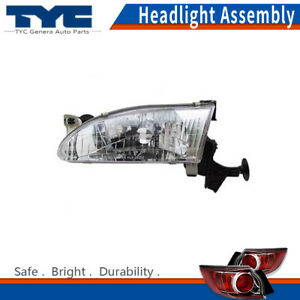 Tyc Headlight Headlamps Assembly Left driver Side 1pc For Toyota Corolla 1999