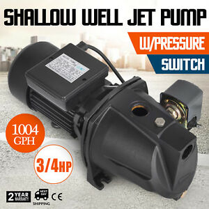 3 4 Hp Shallow Well Jet Pump W Pressure Switch Supply Water 183 7 Ft Cabins
