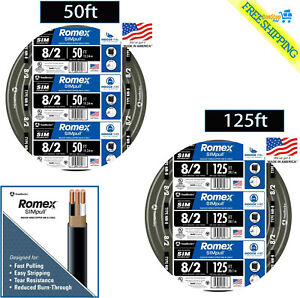 Southwire 8 2 Awg Gauge Indoor Electrical Copper Wire Wground Romex Cable