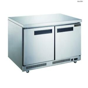 Toolots 15 5 Cu Ft 2 door Undercounter Commercial Refrigerator In Stainless St