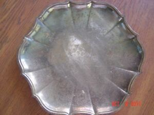 Vintage International Silver Co Scalloped Tray