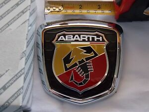 Fiat 500 Abarth Boot Trunk Badge Emblem 735496473 Genuine Original