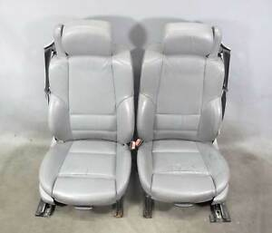 2000 2006 Bmw E46 3 Series Convertible Front Sports Seats Pair Grey Leather Oem