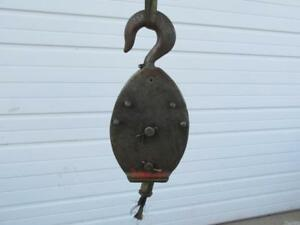 Crosby Crane Single 1 Sheave Block Cable Pulley Rigging Swivel Hook 20 Ton