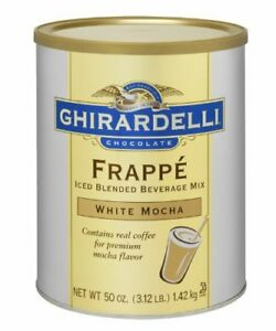 Ghirardelli White Mocha Frappe 3 12 Pound Bulk Food Wholesale Lots Restaurant
