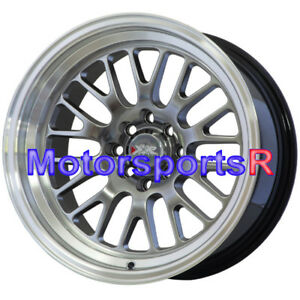 Xxr 531 Staggered 16 X 8 9 0 Chromium Black Wheels Rims Deep Lip 4x114 3 Stance
