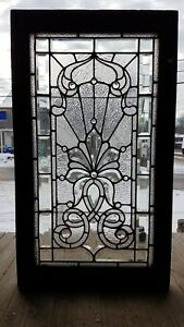 Victorian Stained And Beveled Glass Window 24 By 41