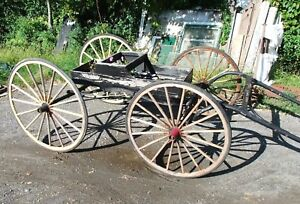 Antique Horse Drawn Doctor S Buggy Carriage W Harness Late 1800s Early 1900s