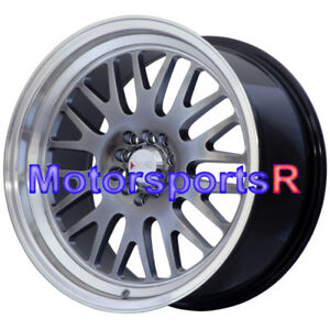 18 Xxr 531 35 Chromium Black Machine Lip Staggered Rims Wheels Deep Lip 5x114 3