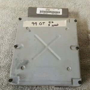1999 2000 Ford Mustang Gt 4 6l Sohc Manual 5 Speed Engine Computer Oem