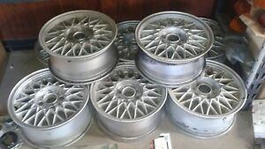 Signed Bmw E30 Bbs Basketweave Rims Straight No Bends No Repairs Ride Smooth