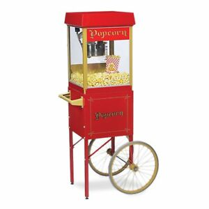 New Fun Pop 4 Oz Popcorn Machine Matching Cart By Gold Medal Choose Color