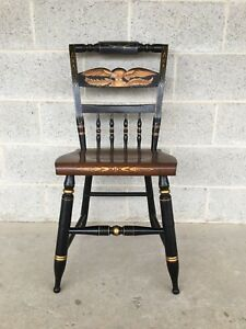 L Hitchcock Black Eagle Back Inn Chair Dining Side Chair