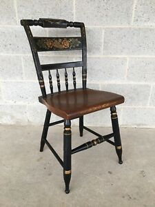 L Hitchcock Black Harvest Inn Side Chair