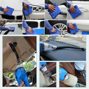 8 Pcs Set Car Cleaning Kit Tools Wash Vacuum Brush Cleaner shovel sponge glove