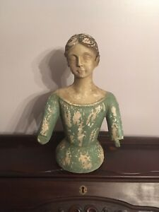 Incredible Cast Iron Antique Statue Of Woman