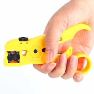 Universal Cable Stripper Cutter For Rg59 Rg6 Rg7 Rg11 Wire Coaxial Striper Tool