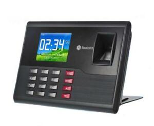 Fingerprint Time Attendance 2 8 Tft Realand A c120 Machine Built in Timing Bell