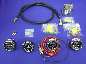 Fits Lincoln Welder Sae400 4 Gauge Set Murphy Swichgage Oil Water Amp Hour Meter
