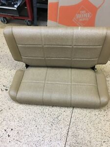 1997 2006 Jeep Wrangler Tj Tl Rear Fold Tumble Bench Seat Tan Vinyl