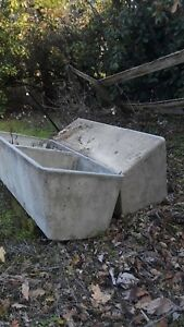 2 Livestock Water Trough Used Cast Concrete In Great Shape