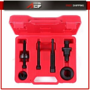 Power Steering Pump Pulley Puller Remover Installer Tool Kit Removal For Gm Ford