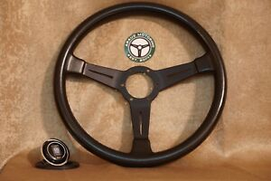 Nardi Classic Black Leather 360mm Steering Wheel Italy Jdm