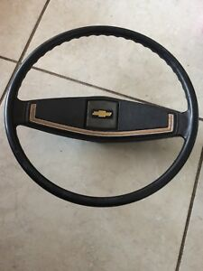 Vtg 1973 1980 Chevy Pickup Truck Original Stock Black Wood Grain Steering Wheel