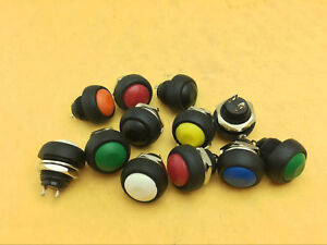 1 1000pc Color M4 12mm Waterproof Momentary On off Push Button Round Spst Switch