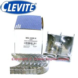 New Set Of Clevite H Series 001 Undersize Main Bearings 400 6 6l Sb Chevy